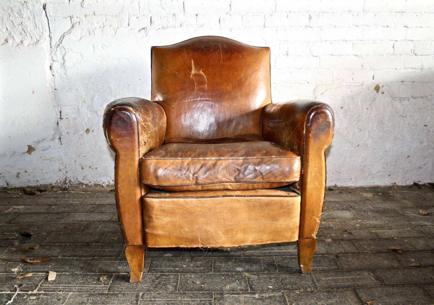 1940's Leather Armchair
