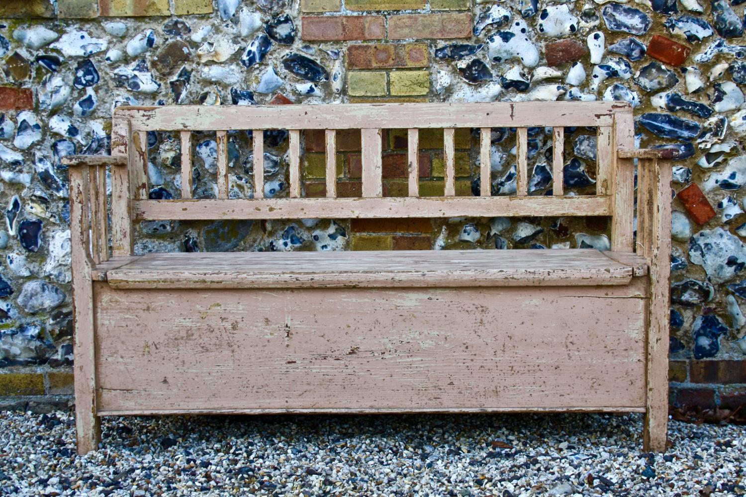 Painted 19th Century Bench