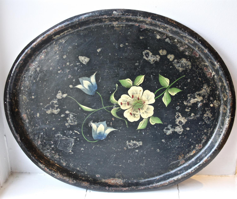Floral Tin Tray