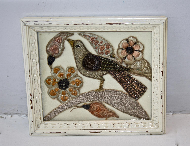 19th century Turkish bird embroidery