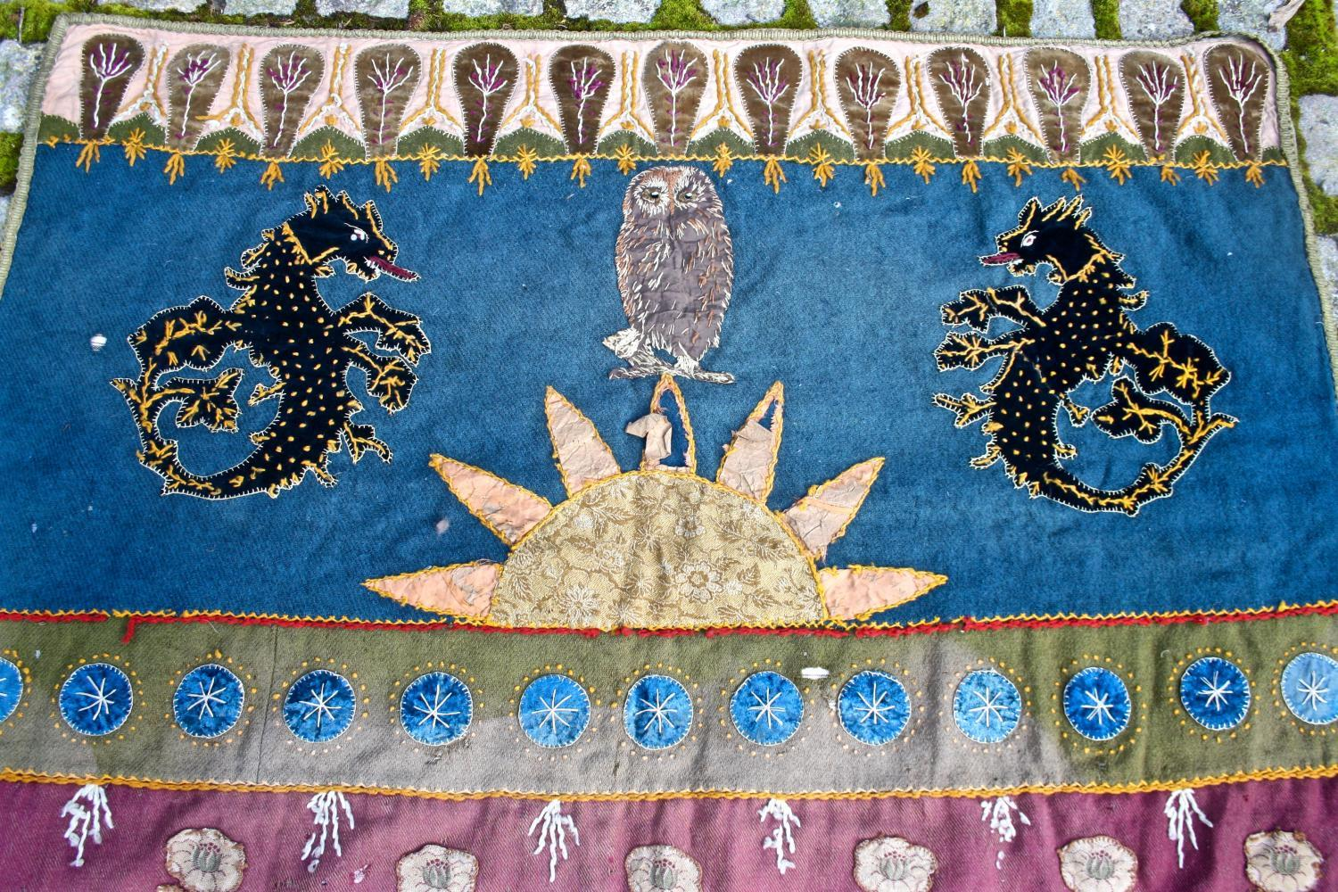 Owl and dragon banner