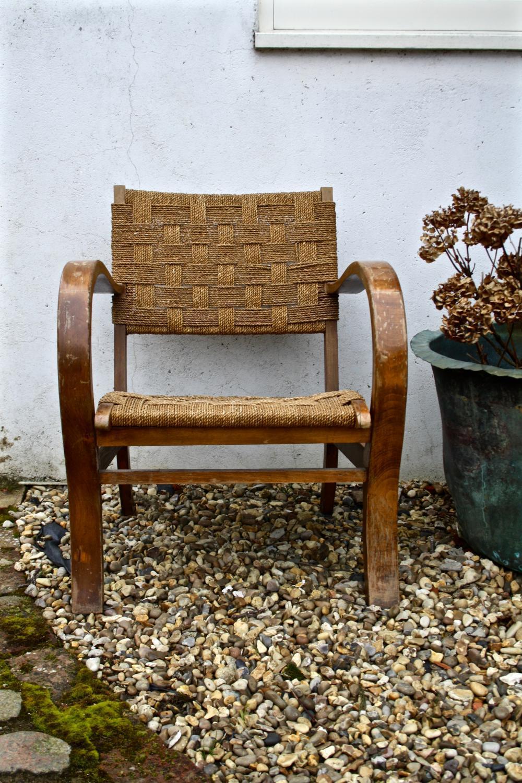 Mid Century Rush Seated Chair