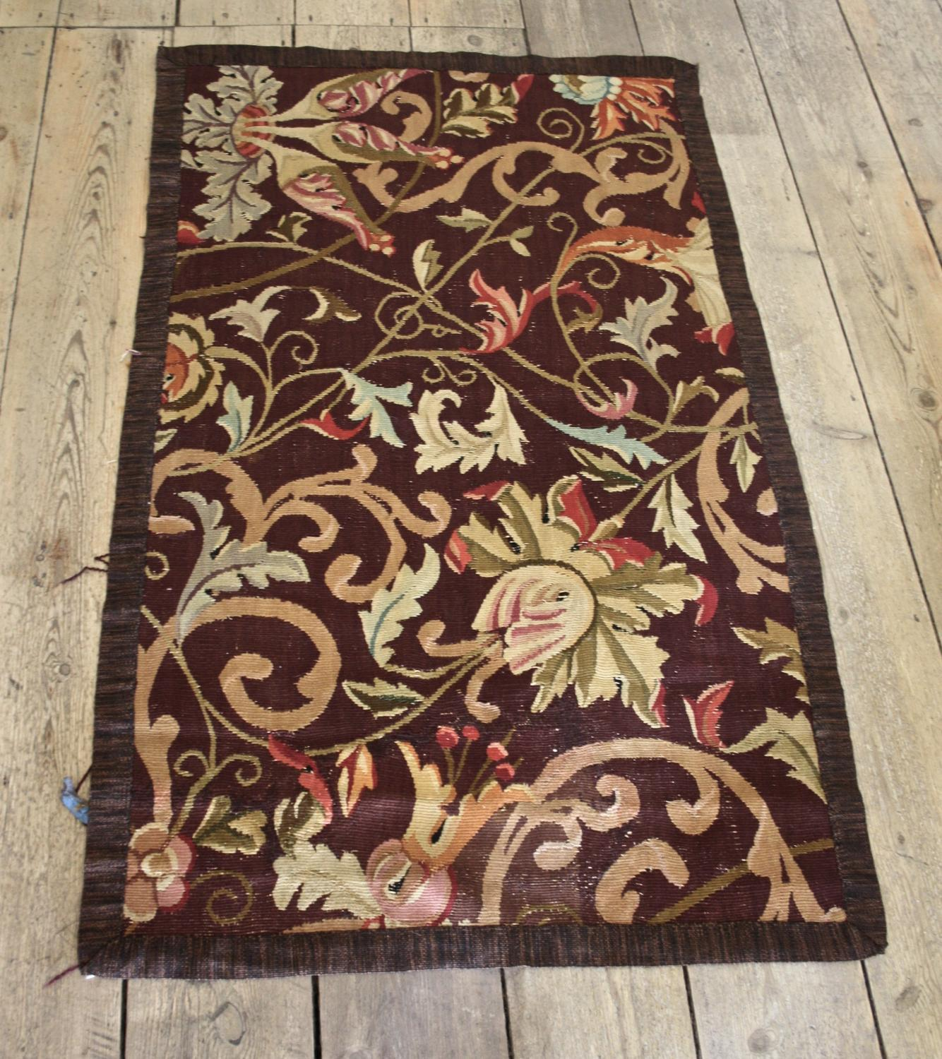 Small cotton floral rug