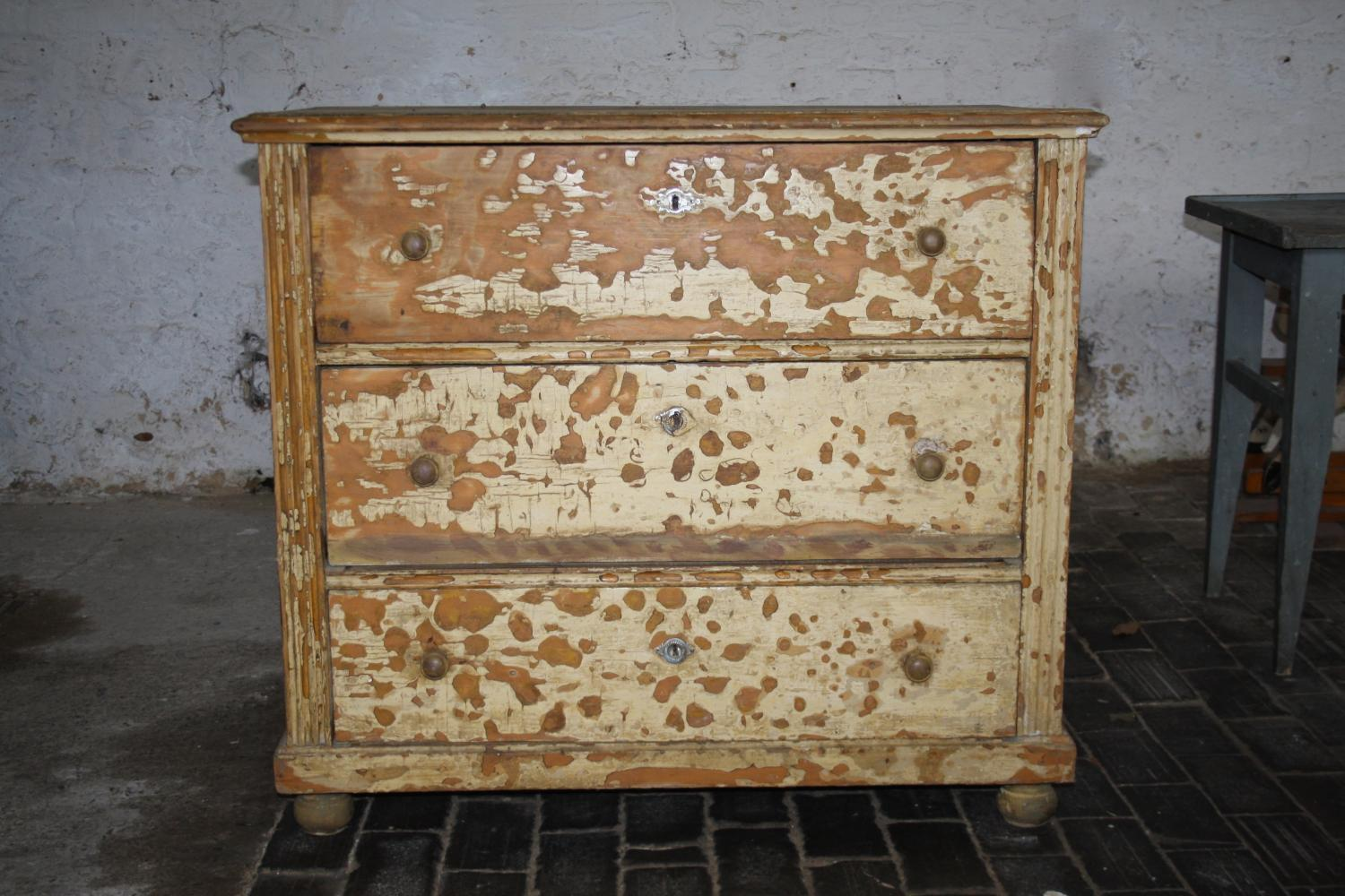 19th Century chest of three drawers