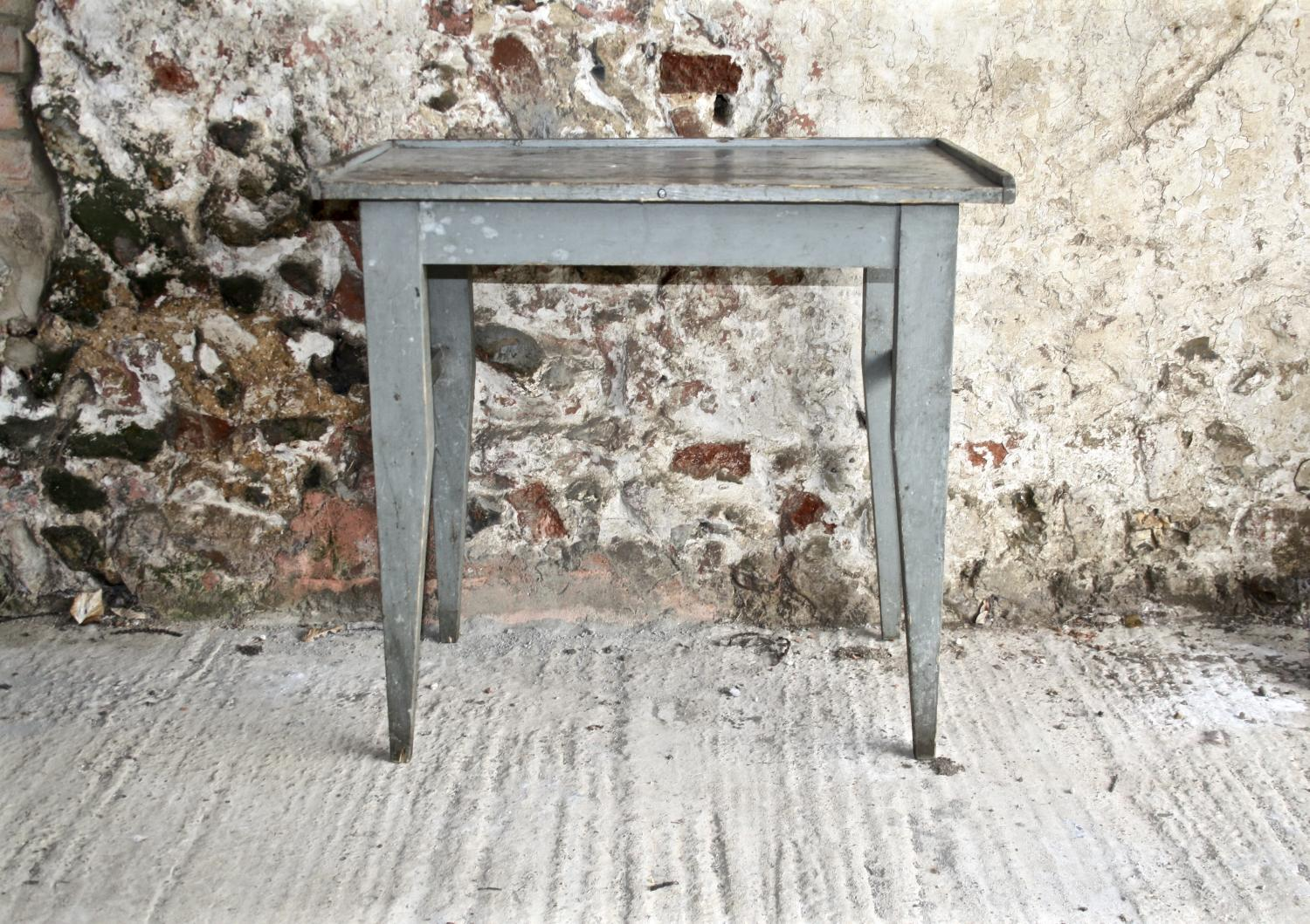 Blue/grey painted table - 19th century