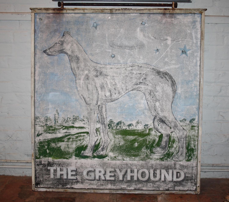 The Greyhound pub sign