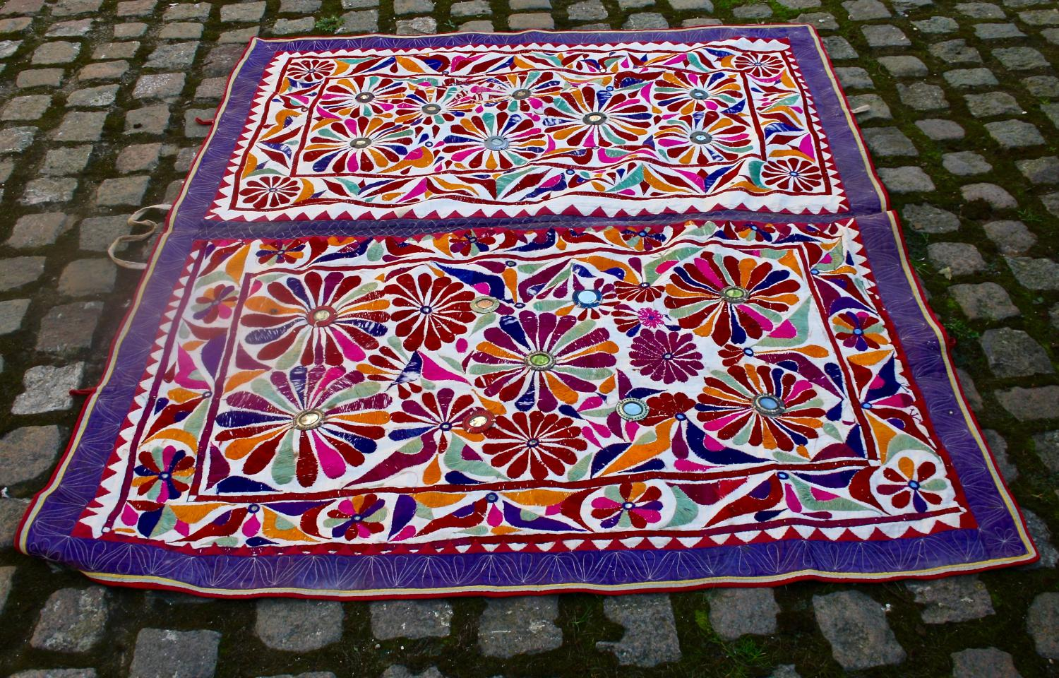 Indian embroidered table cover