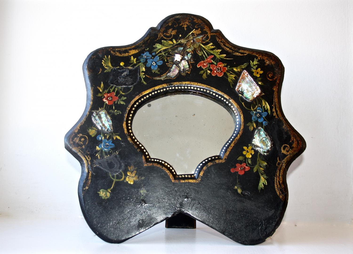Dressing table mirror with inlaid mother of p