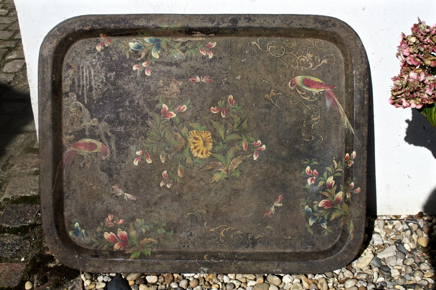 Large French toleware tray