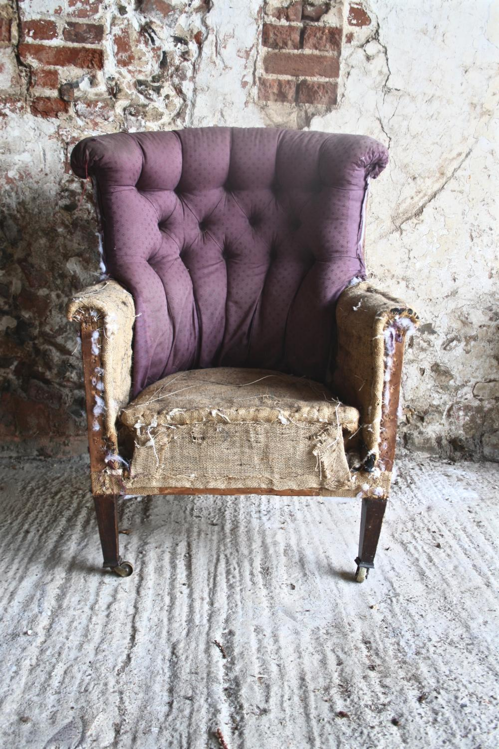 Edwardian button back chair