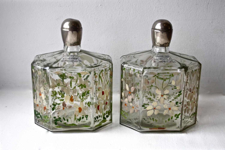 Pair of 20's/30's perfume bottles