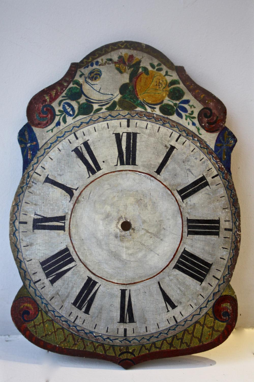 Painted clock face