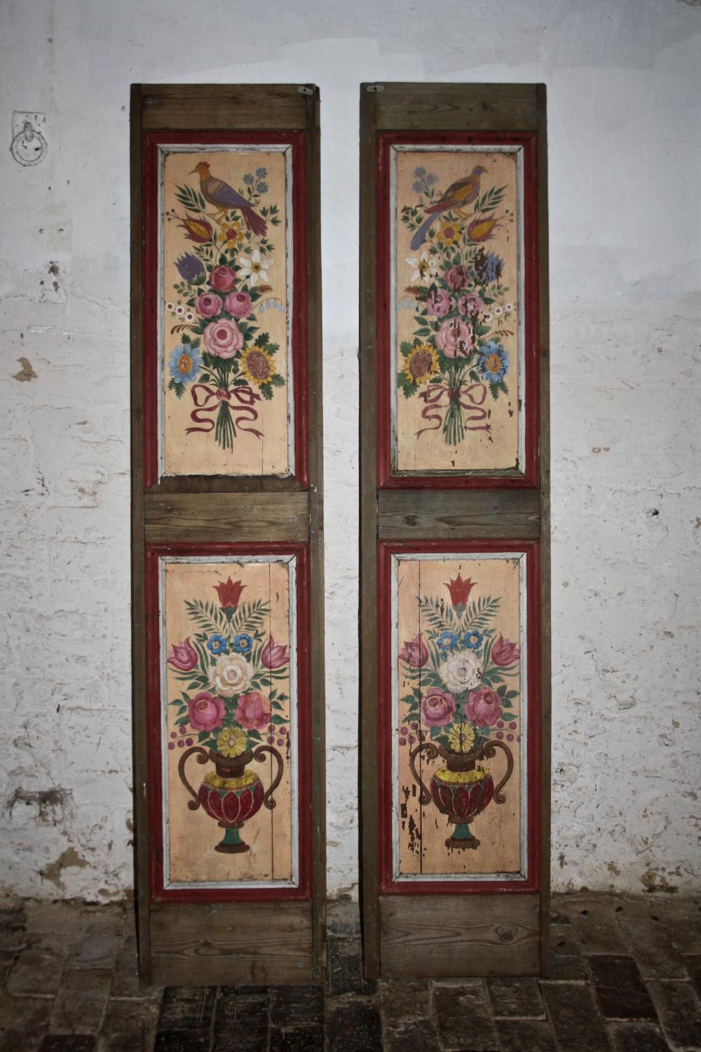 Pair of painted panelled doors