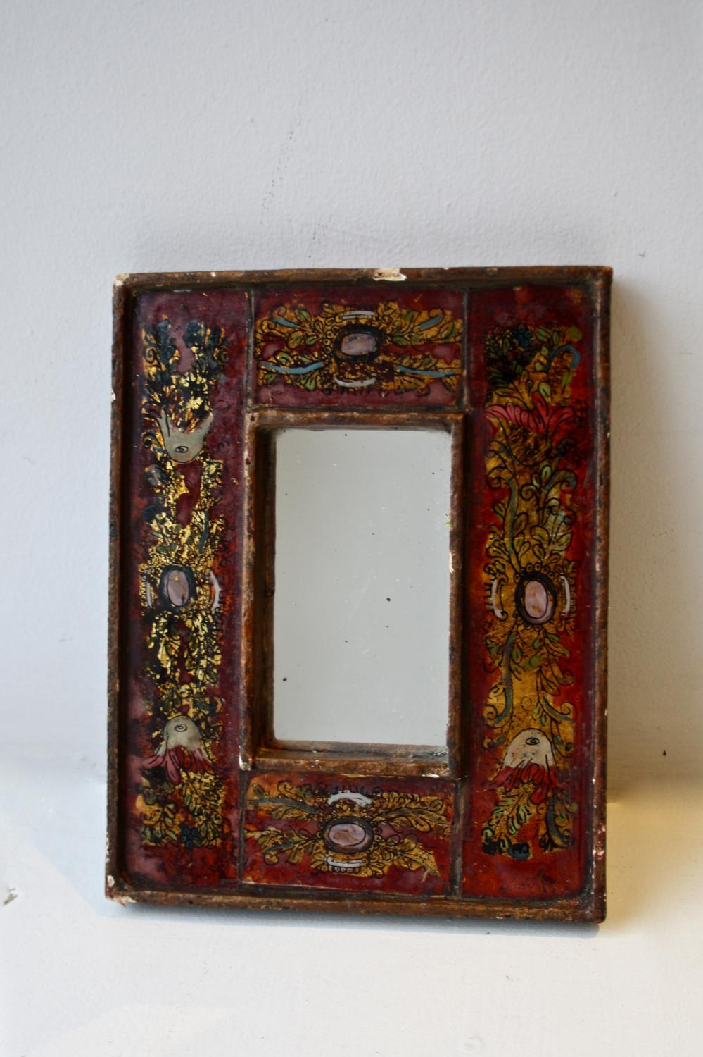 Reverse glass painted frame