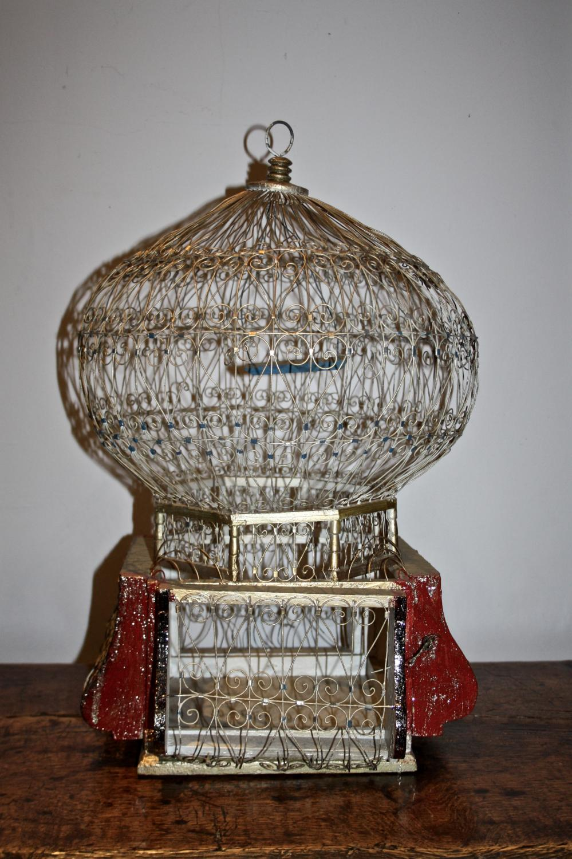 Vintage balloon birdcage
