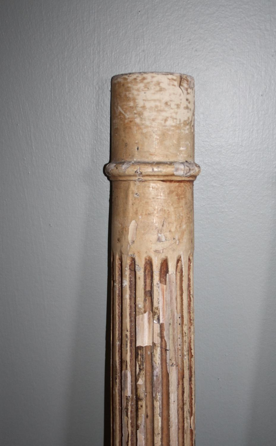 Architectural pair of reeded columns