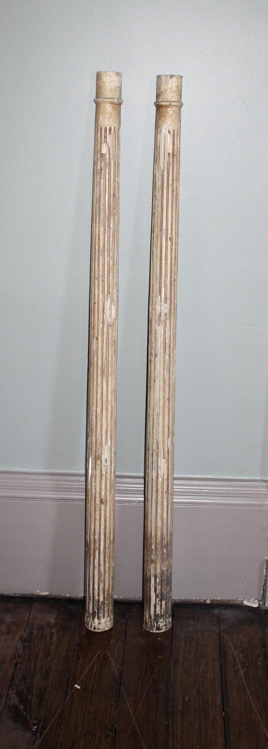 Architectural pair of reeded columns in decorative for Decorative structural columns
