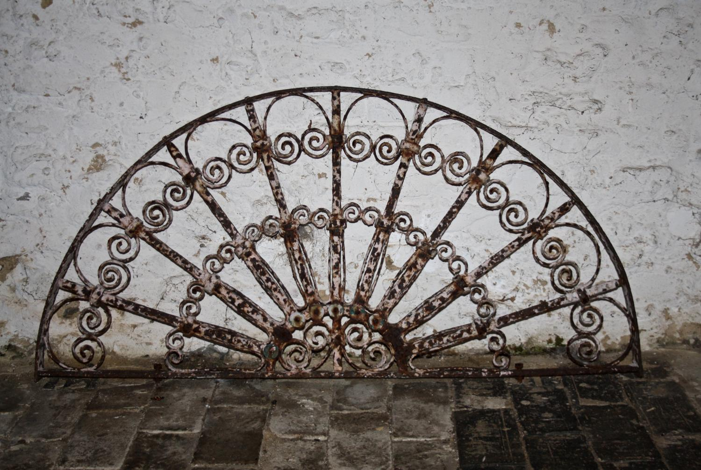 Decorative Victorian cast iron fanlight