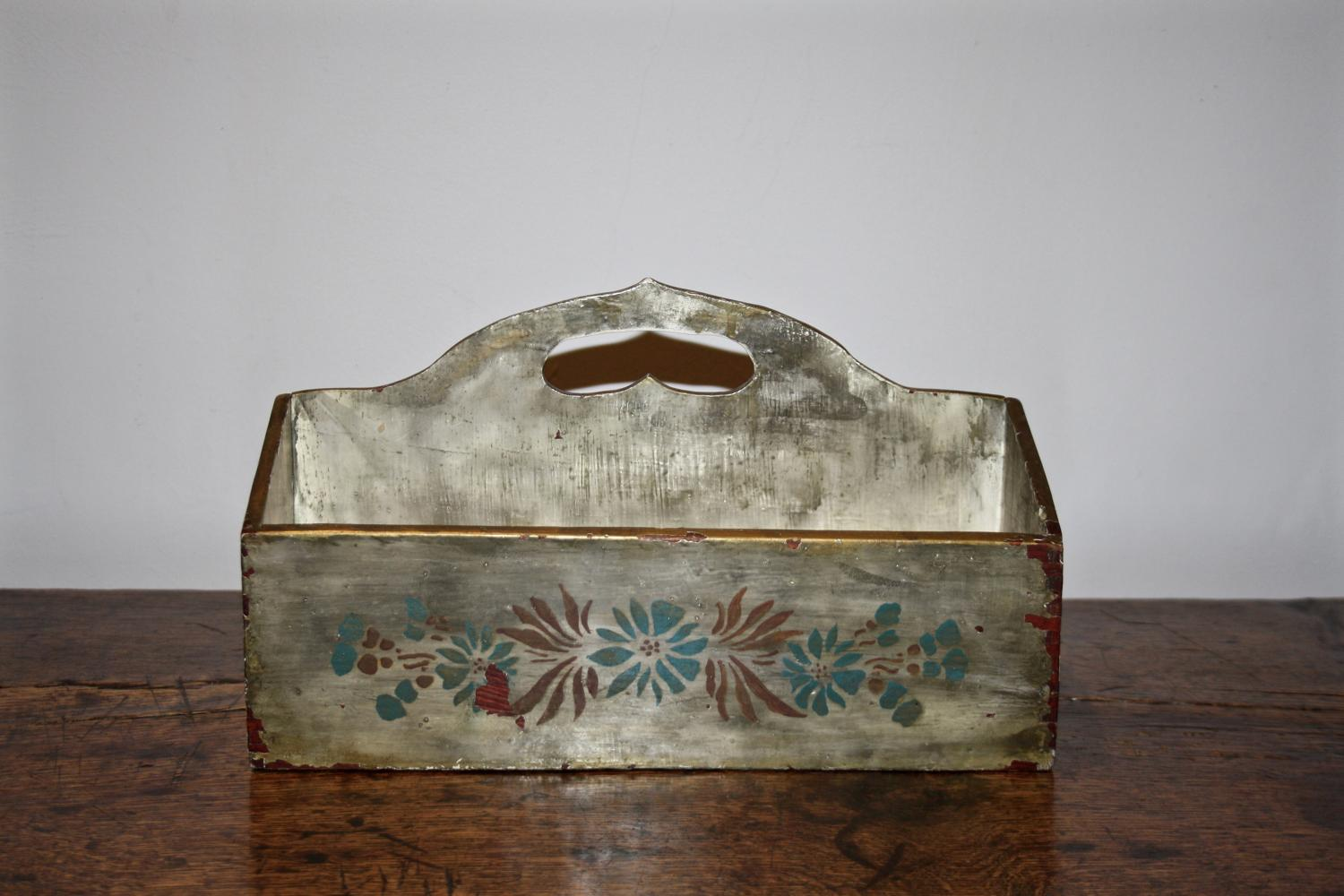 Painted Cutlery Tray
