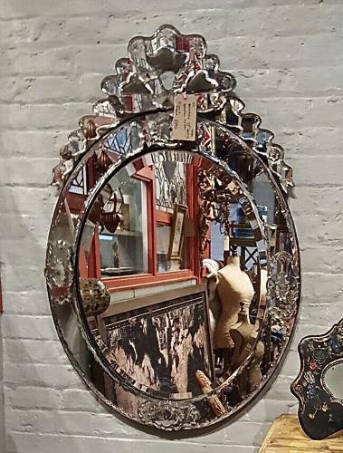 Large 19th century Venetian mirror