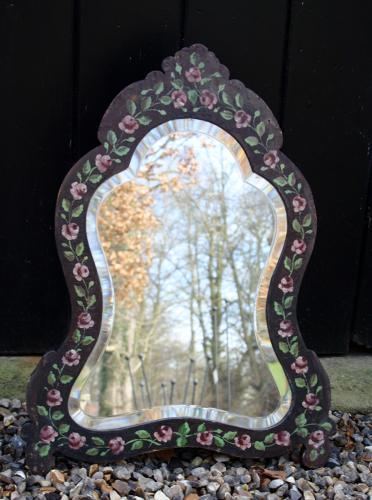 Early 1900s floral dressing table mirror