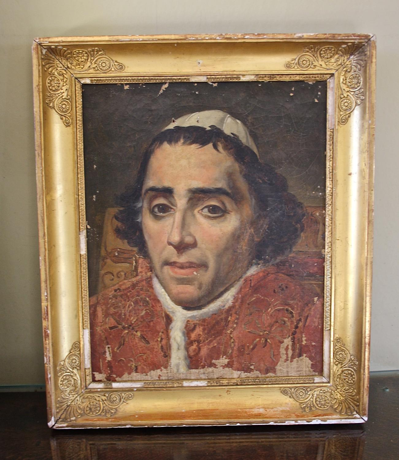 French oil painting of cardinal