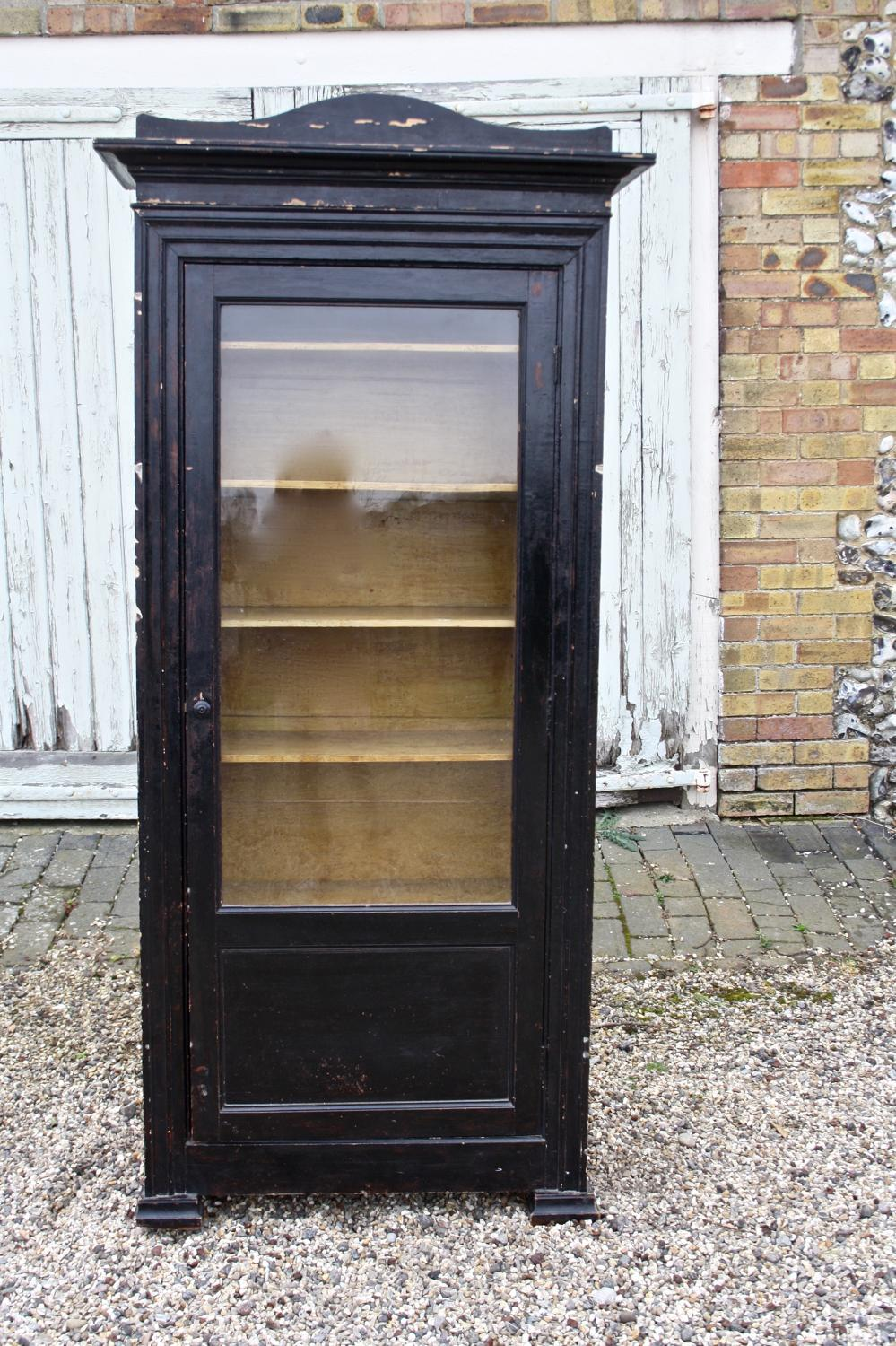 19th century painted vitrine/display cabinet