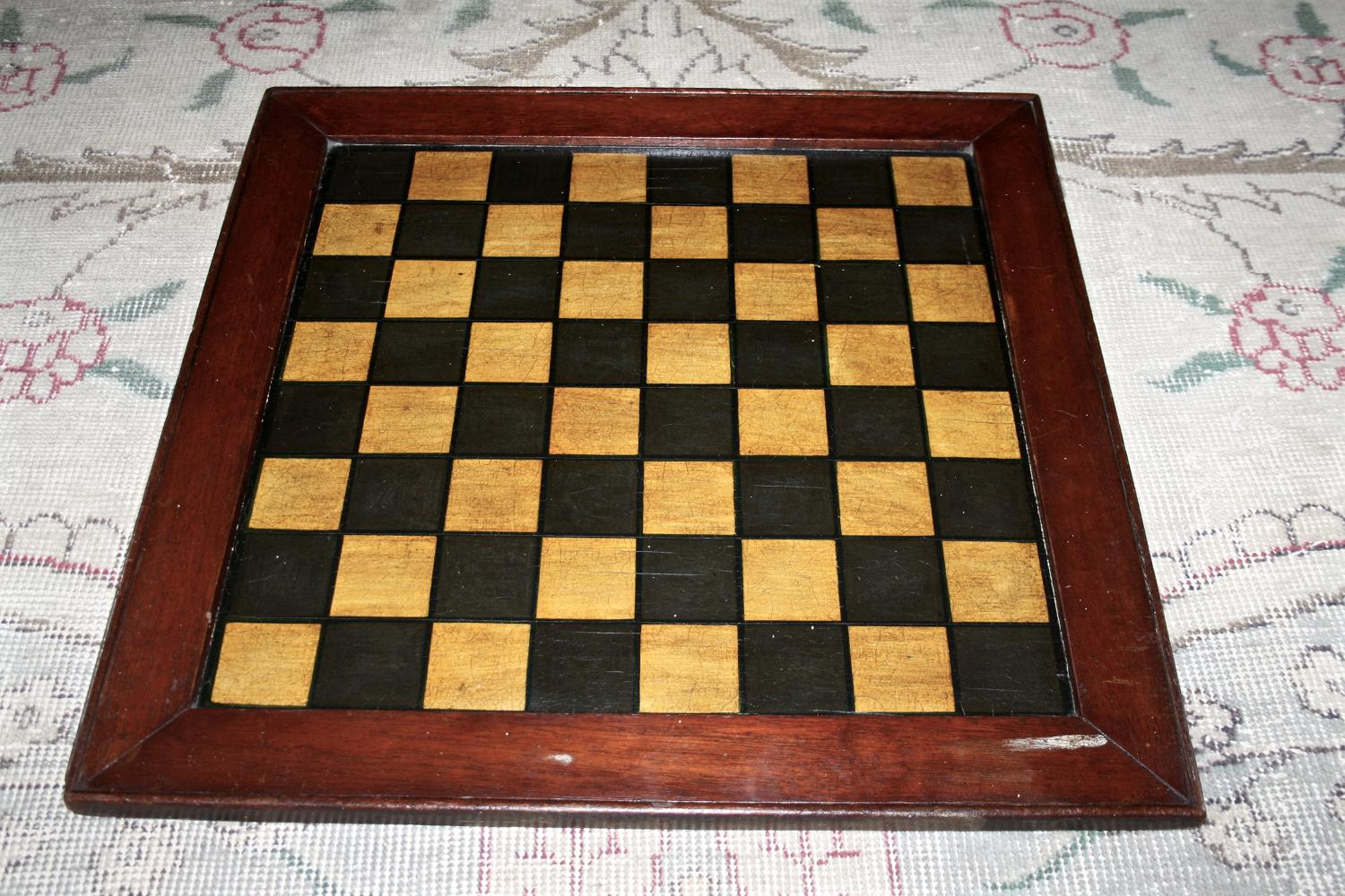 Chessboard with mahogany frame