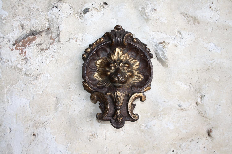 Cast iron lion head