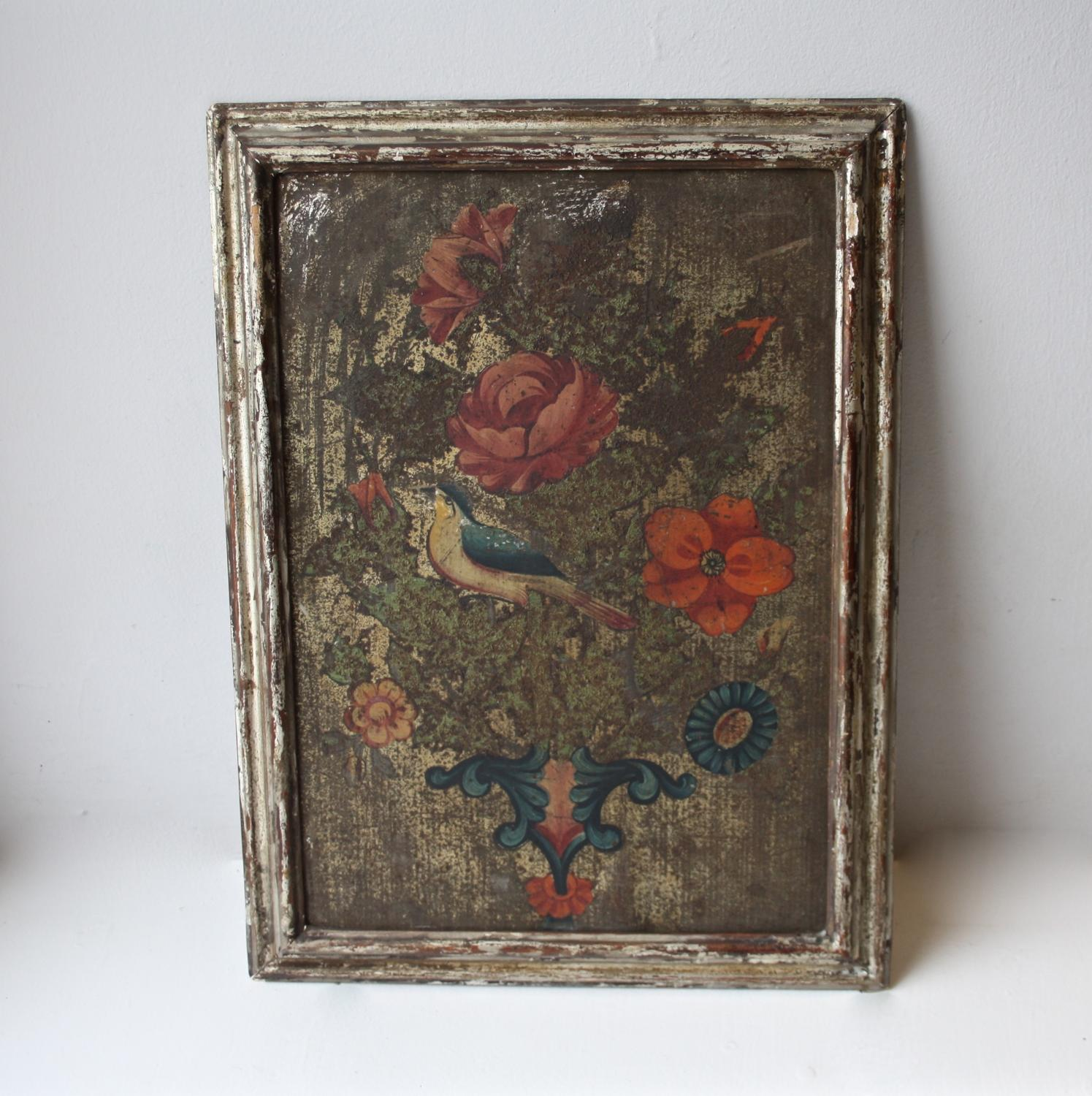 19th century French painting on tin
