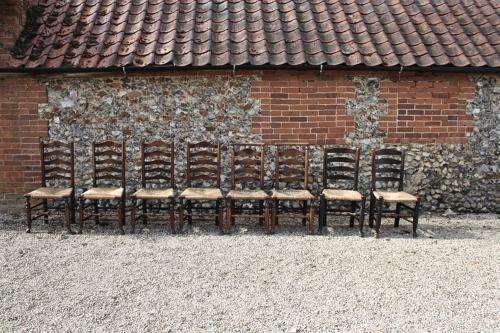 Harlequin set of 8 Georgian dining chairs