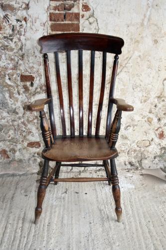 19th century slat back carver