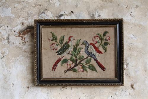 19th century wool tapestry