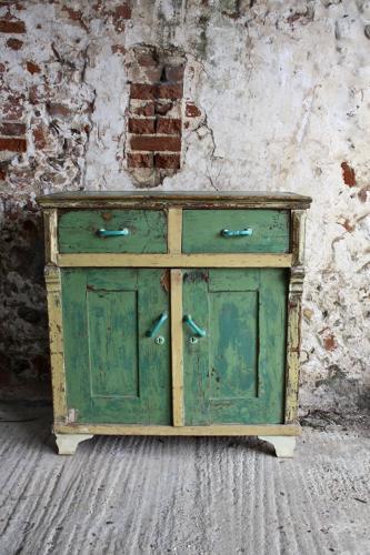 Green dresser base/cupboard