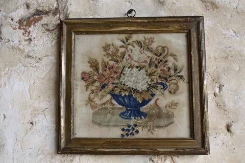 Framed 19th century tapestry