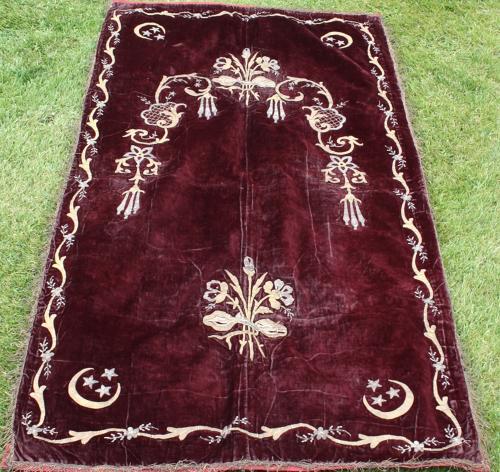 19th century velvet panel