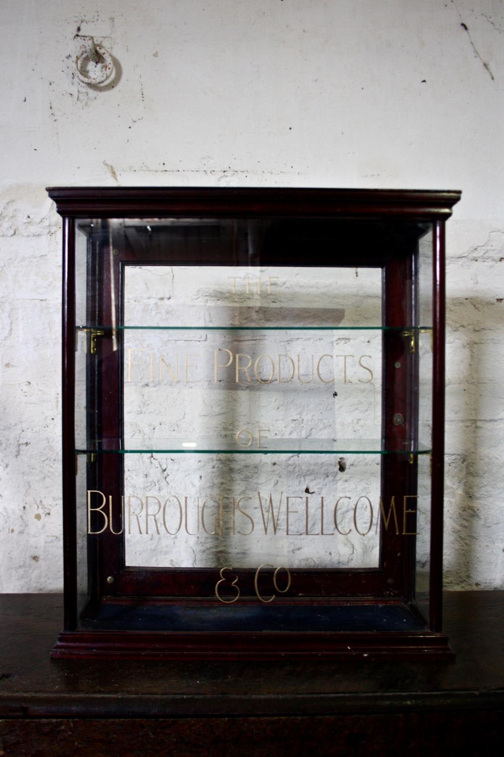 Edwardian glazed cabinet