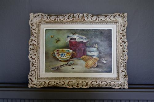 Framed oil painting - French