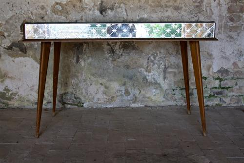 1950's mirrored dressing/console table