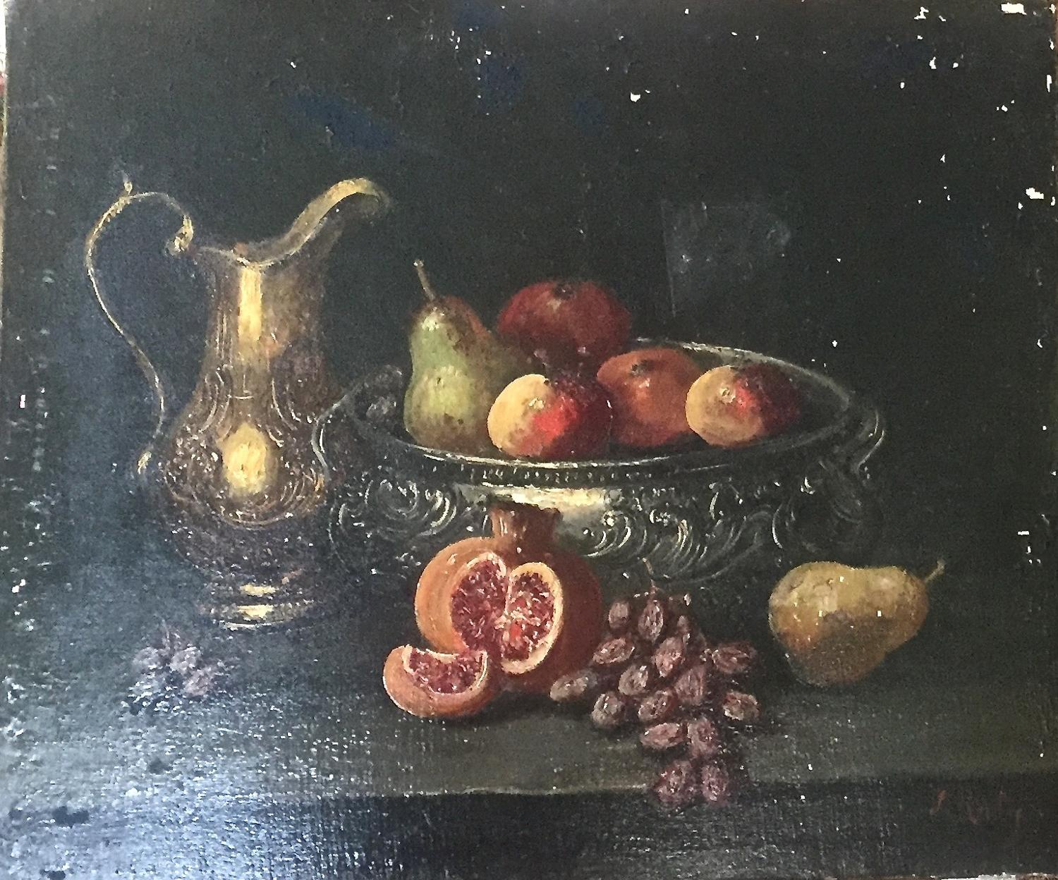 Still life - ewer and fruit