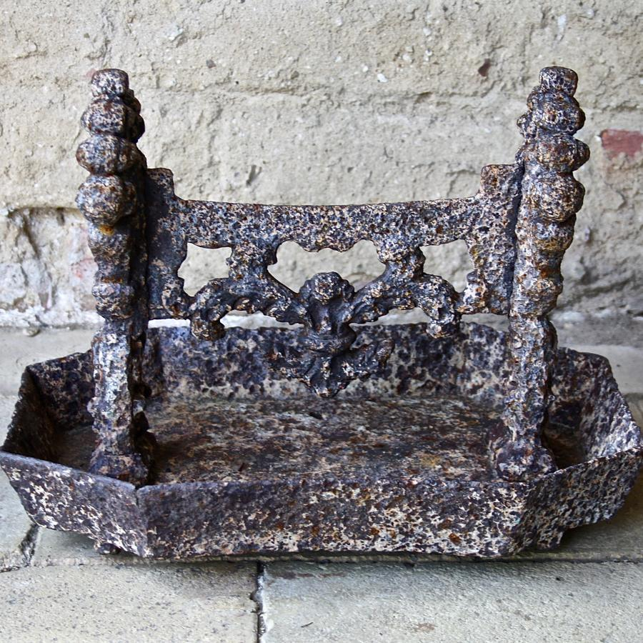 Victorian cast iron foot scraper