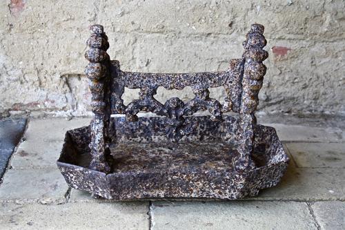 Victorian cast iron foot scraper