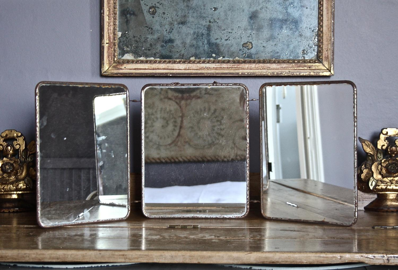 Mid Century triple dressing table mirror