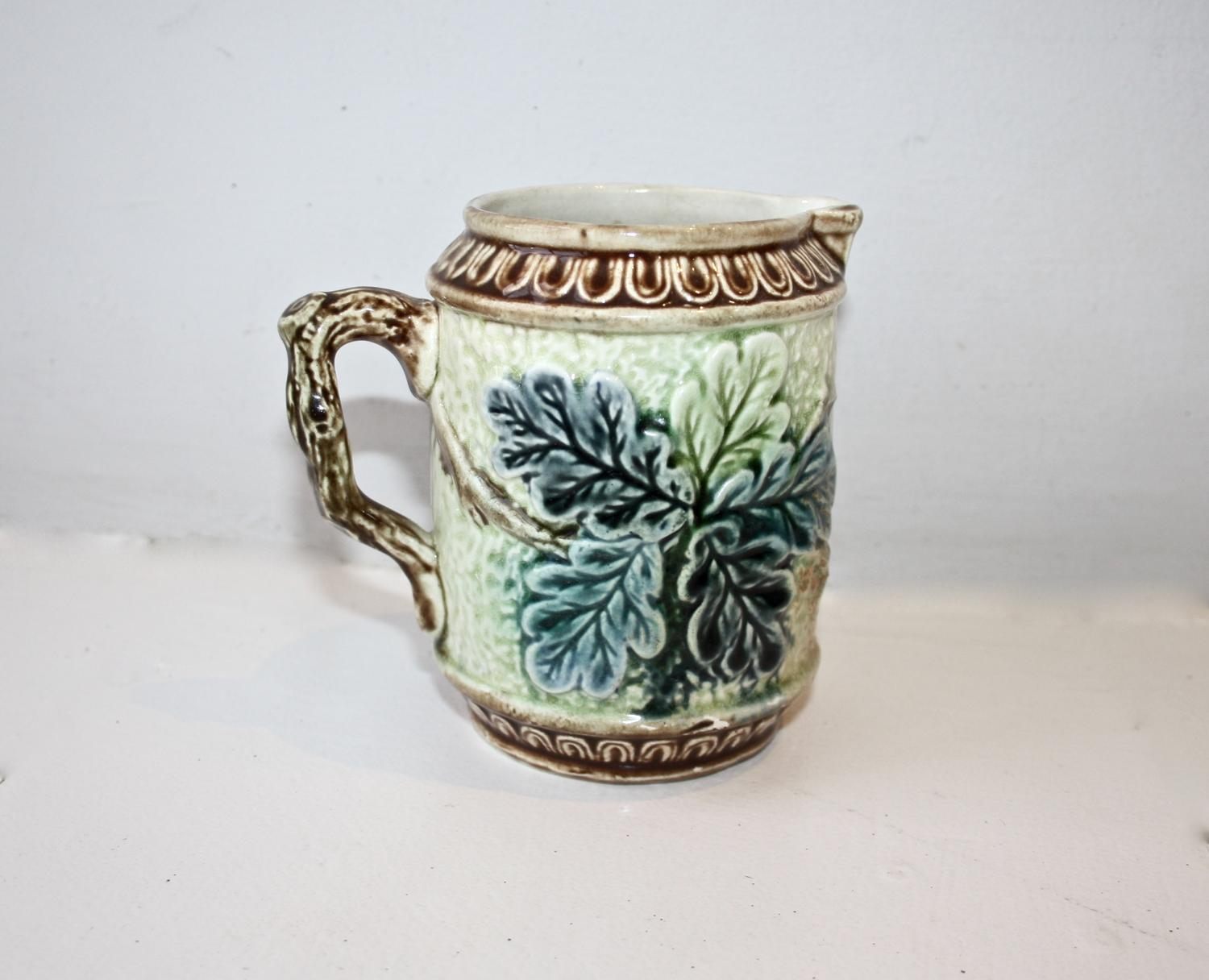 Small French majolica jug