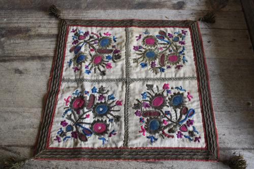 Silk on linen embroidery