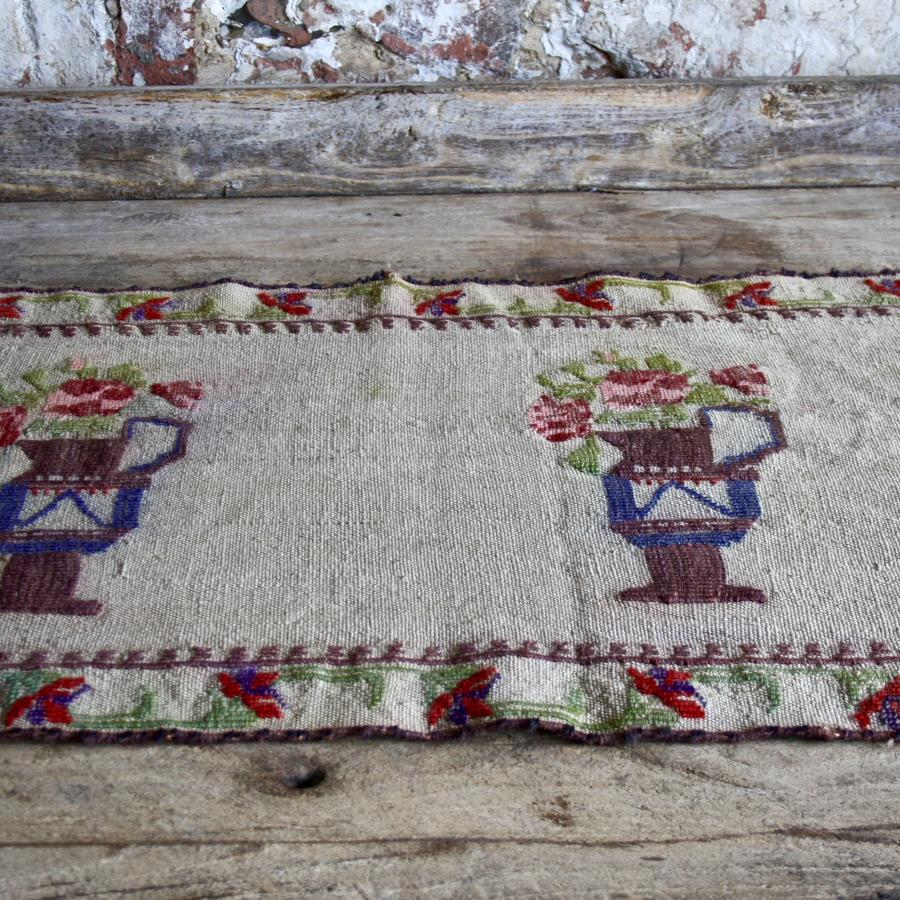 Mid century embroidered table runner