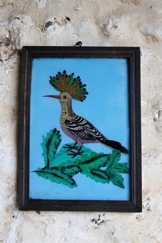 Indian glass painting - bird