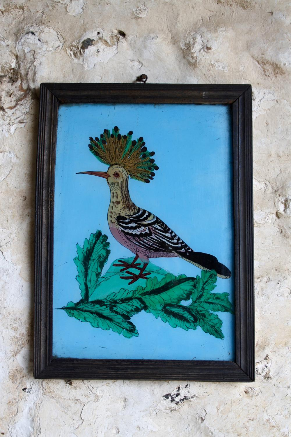 Indian glass painting - bird