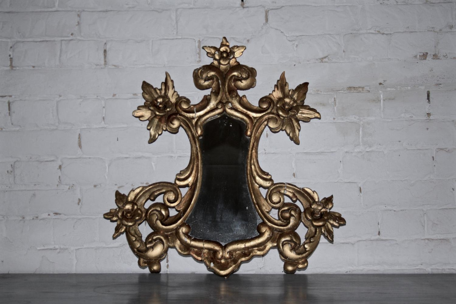 Small gilt French mirror - early 1900s