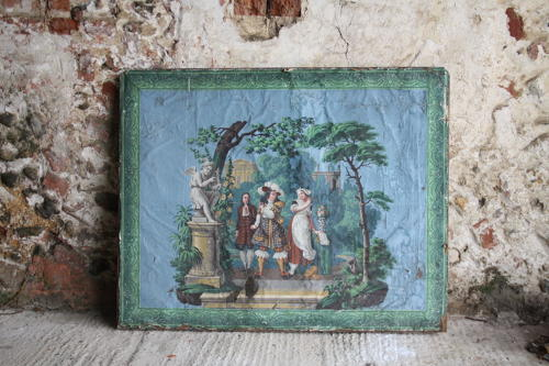 Early 19th century painted canvas